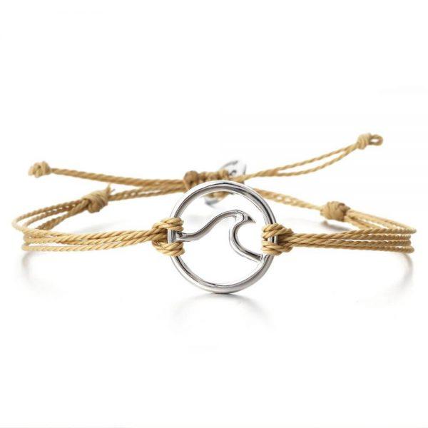 beige wave bracelet