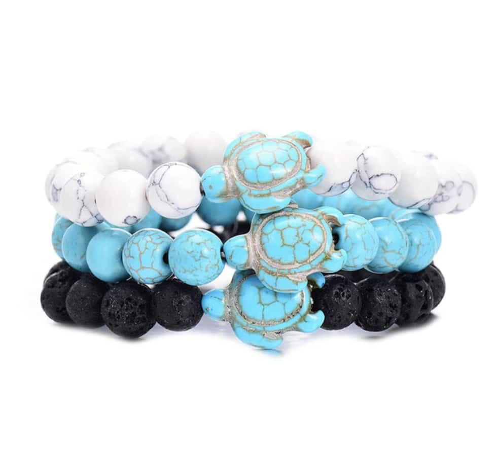 Hawksbill Sea Turtle Bracelet - gift for sea turtle lovers
