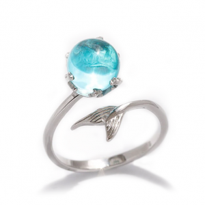 crystal whale tail ring