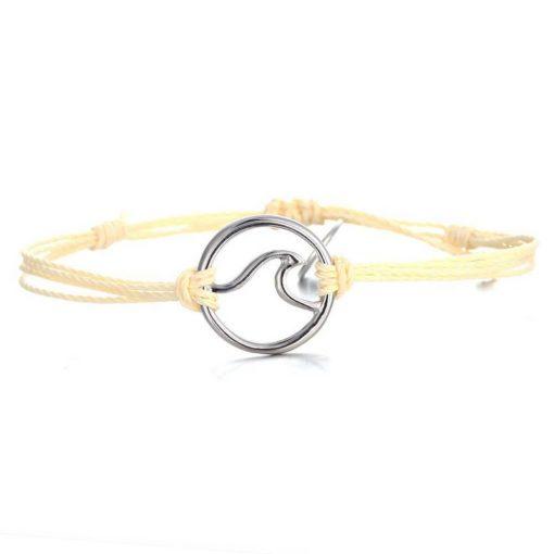 off white wave bracelet
