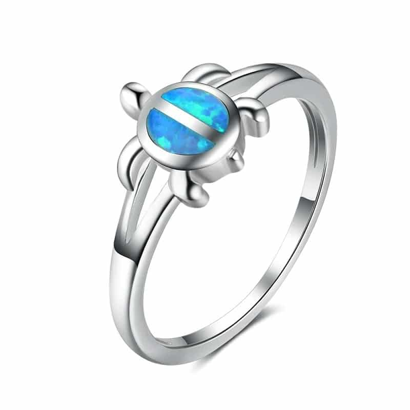 Gift - Silver sea turtle ring