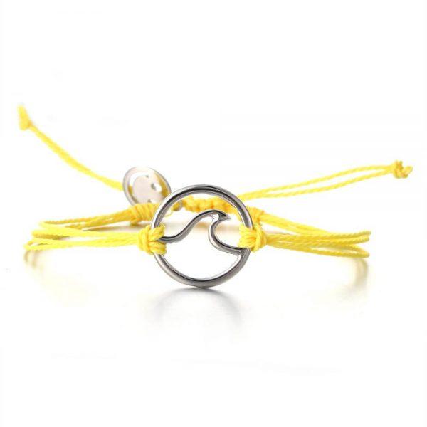 yellow wave bracelet