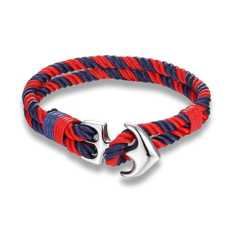 Red Nautical Anchor Bracelet