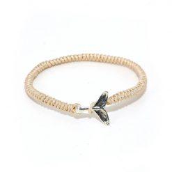 beige whale friendship bracelet