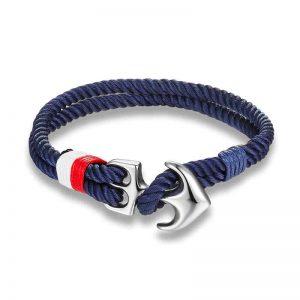 Navy blue Nautical Anchor Bracelet