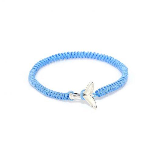 Sky Blue Whale Friendship Bracelet