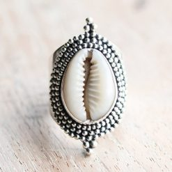 Bohemian Cowrie Shell Ring
