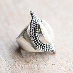 Boho Cowrie Shell Ring