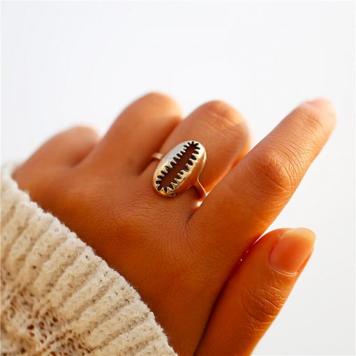 Gold Cowrie Shell Ring