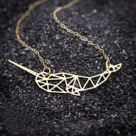 Gold Narwhal Necklace