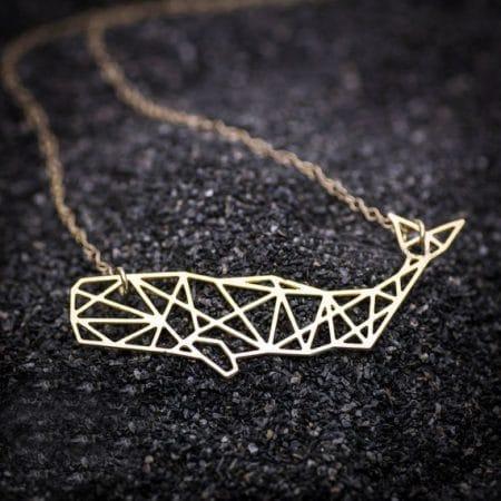 Gold Sperm Whale Necklace