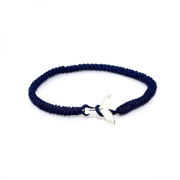 navy blue whale friendship bracelet