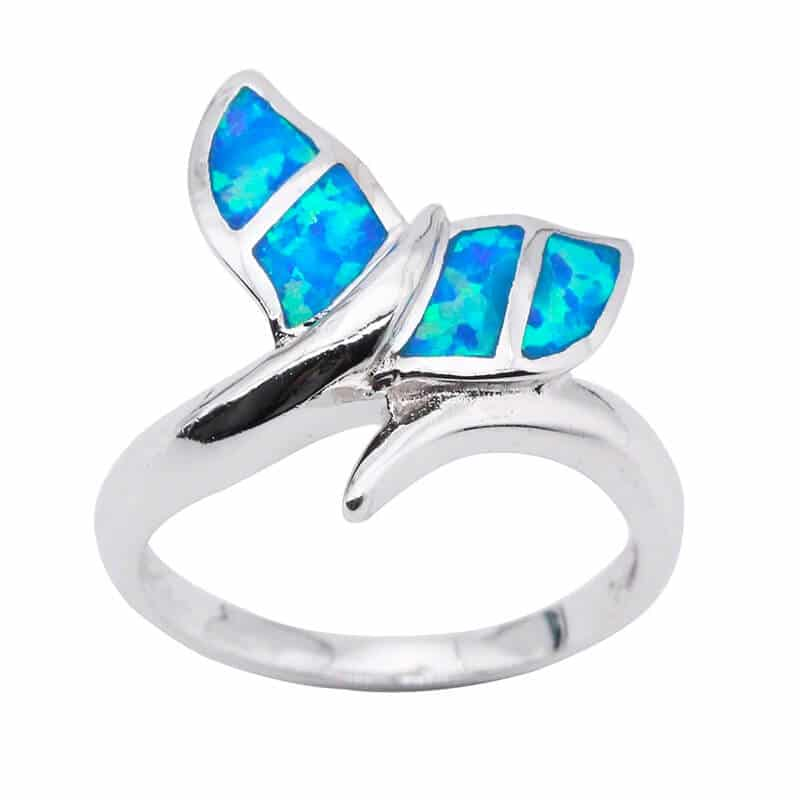 Opal Whale Tail Ring