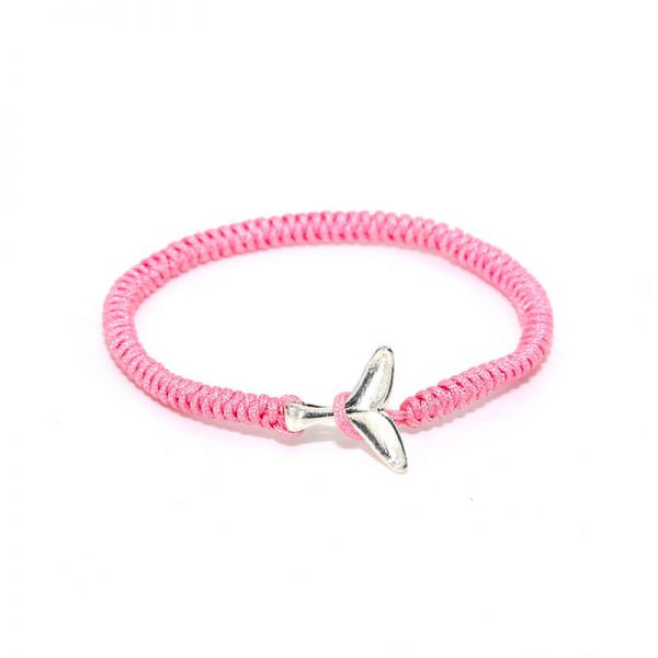 Pink whale friendship bracelet