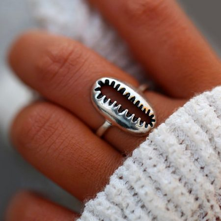 Silver Cowrie Shell Ring