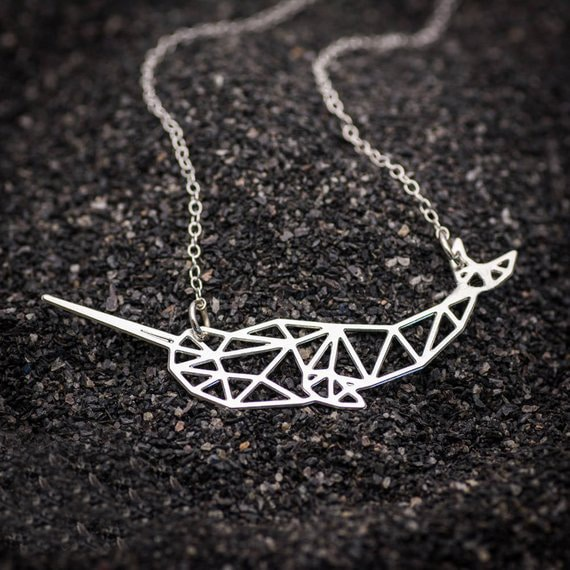 Silver Narwhal Necklace