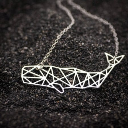 Silver Sperm Whale Necklace