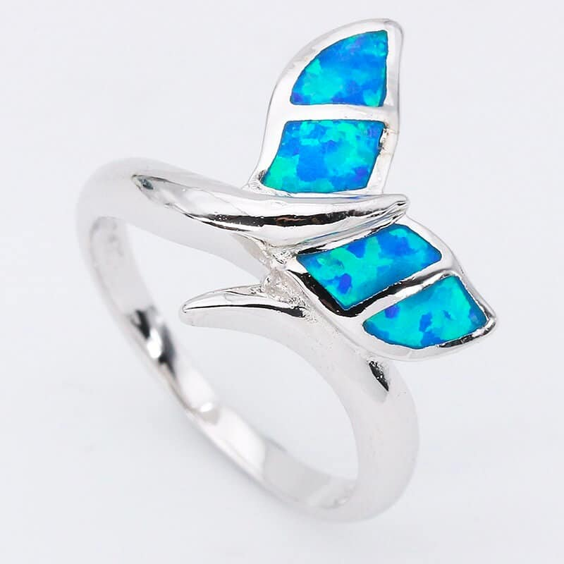 Turquoise Whale Tail Ring
