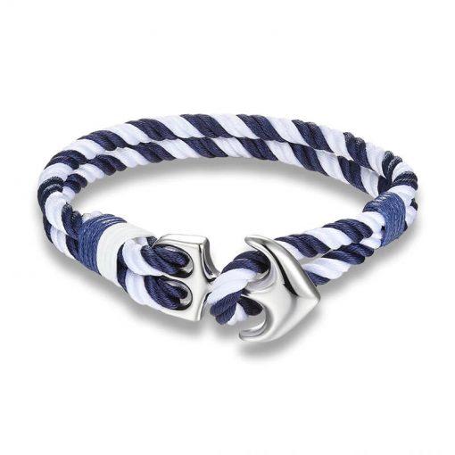 White Nautical Anchor Bracelet