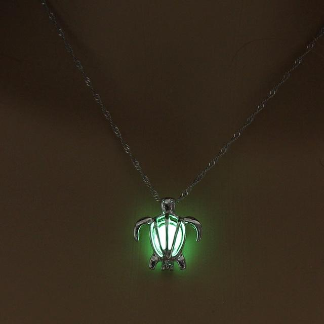 Glow in the dark Turtle Necklace