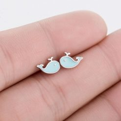Blue Whale Earrings