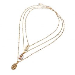 Gold cowrie necklace