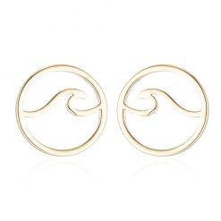 Gold Surfer earrings