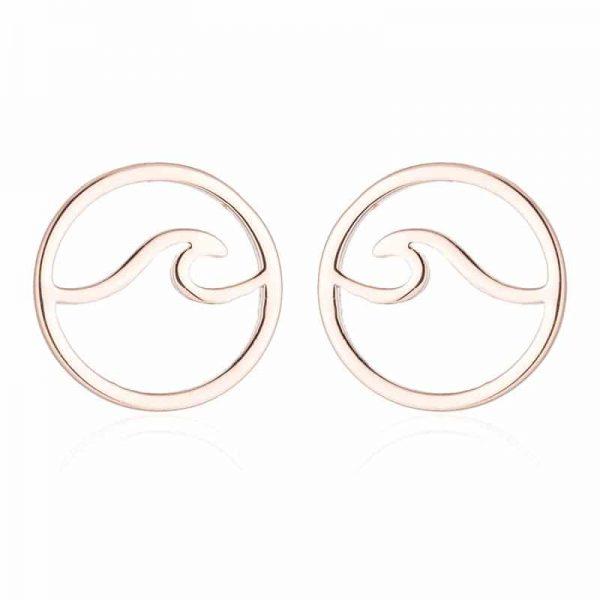 Rose gold Surfer earrings