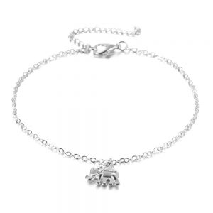 Silver Elephant Anklet
