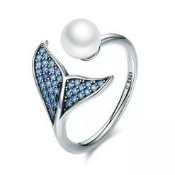 Silver Mermaid Tail Ring