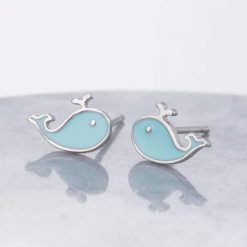 Small Whale Earrings