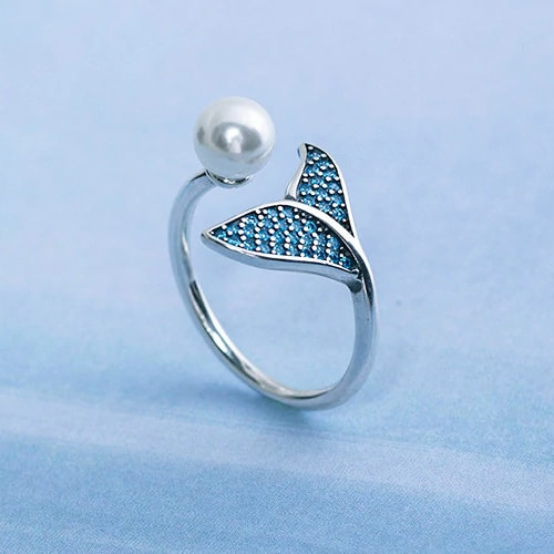 Sterling silver mermaid tail ring