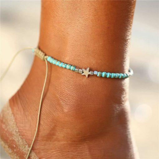 Turquoise Boho Anklet