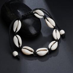 Black White Cowrie Shell Bracelet