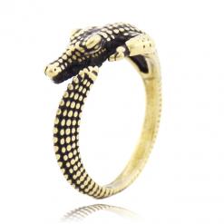 Gold Crocodile Ring