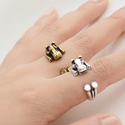 Hippopotamus ring