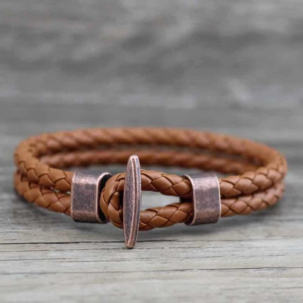Leather sailor bracelet