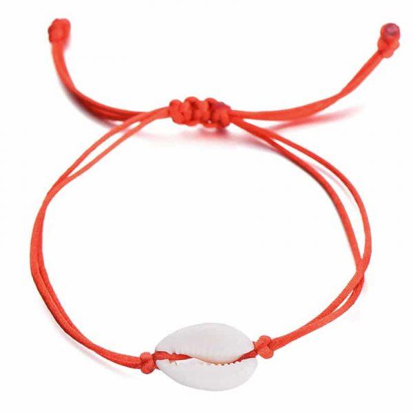 Red Cowrie bracelet