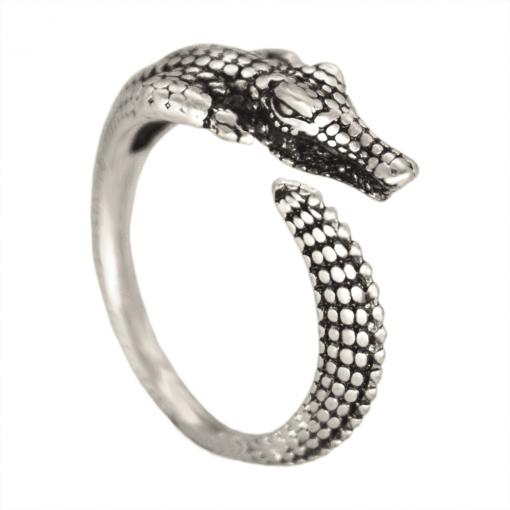 silver Crocodile Ring