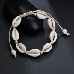 White Cowrie Shell Bracelet
