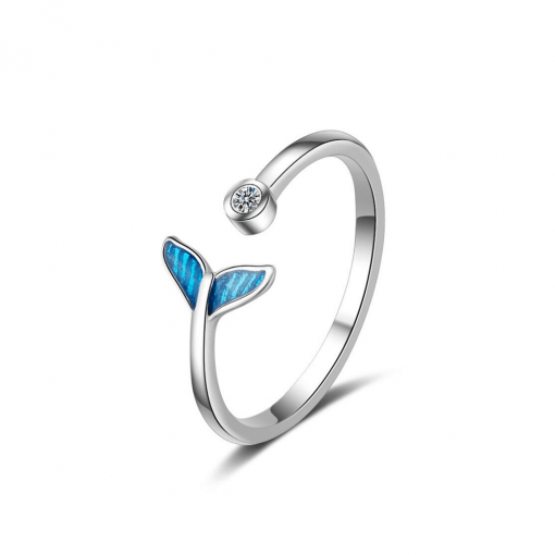 Blue whale tail ring