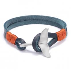 Blue whale tail bracelet