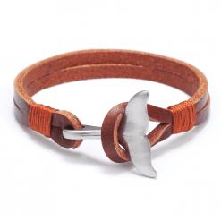 brown whale tail bracelet