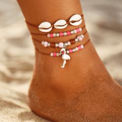 Flamingo Anklet