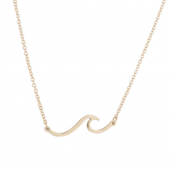 Gold Ocean Wave Necklace