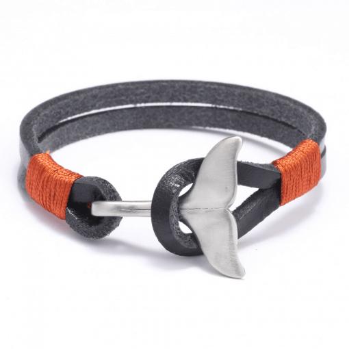 Grey whale tail bracelet