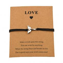 Black Lucky whale tail bracelet