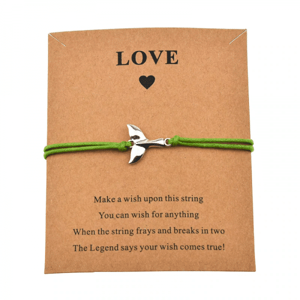 Make A Wish Whale Tail bracelet