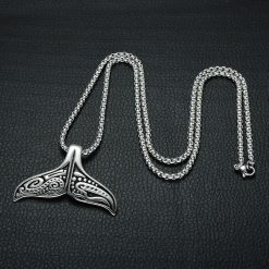 maori whale tail necklace