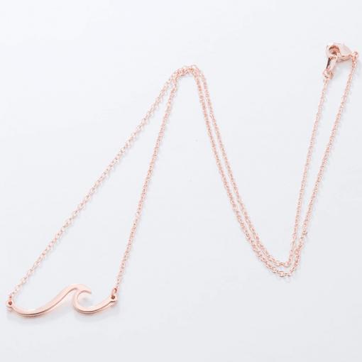 Rose Gold Ocean Wave Necklace
